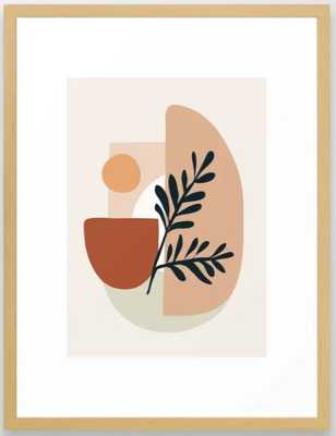 Geometric Shapes Framed Art Print - Society6