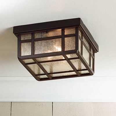 "J du J Sierra Craftsman 10 1/2""W Outdoor Ceiling Light - Lamps Plus"