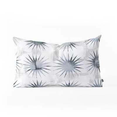 AVIANA STARBURST WHITE Oblong Throw Pillow - Wander Print Co.