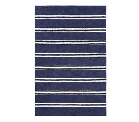 Blake Stripe Rug / 8x10'/ Navy - Pottery Barn Kids