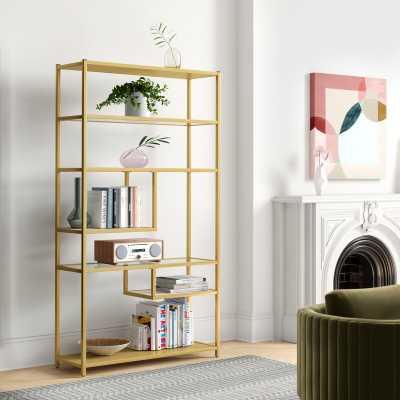 Kit Geometric Bookcase - Birch Lane