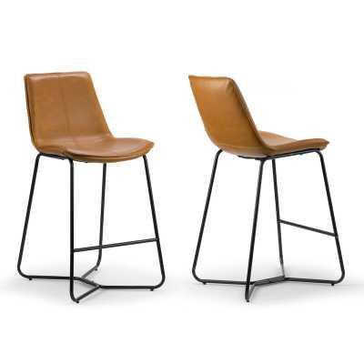 "Laureen Bar & Counter Stool - set of 2, cappuccino, Counter Stool (26"" Seat Height) - Wayfair"
