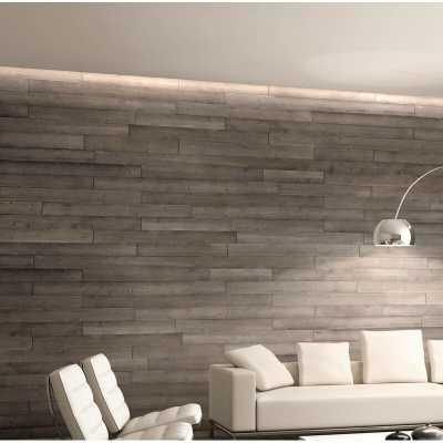 "5"" x 47"" Reclaimed Peel and Stick Engineered Wood Wall Paneling - Wayfair"
