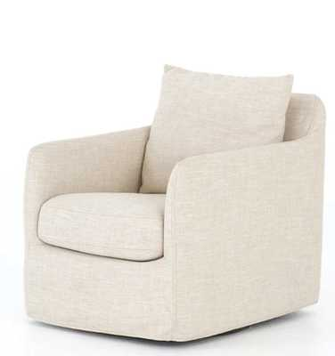 Banks Swivel Chair in Various Colors - Burke Decor