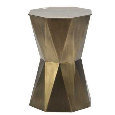 Gage Geometric End Table - Wayfair