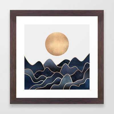 "Waves Framed Art Print - Conservation Walnut Mini - 12"" X 12"" - Society6"