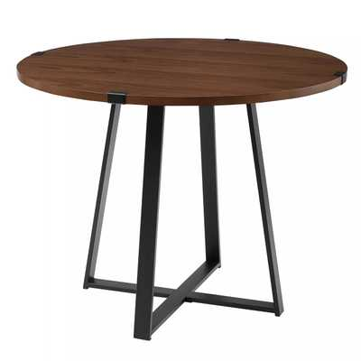 """40"""" Urban Industrial Round Dining Table with Faux Wrap Leg - Saracina Home - Target"""