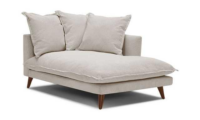Denna Single Arm Chaise - Left/Cody Sandstone/Mocha Wood - Joybird