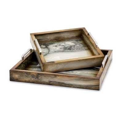 TY New Frontier Marly Decorative Trays - Set of 2 - Mercer Collection