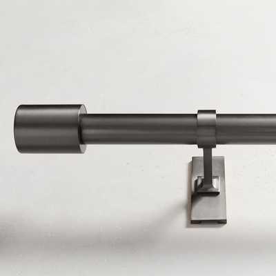 "Oversized Adjustable Metal Rod - Gunmetal - 48""-88"" - West Elm"