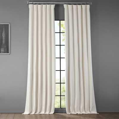 Clem Solid Color Room Darkening Rod Pocket Single Curtain Panel - Birch Lane