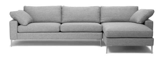 Nova Winter Gray Right Sectional Sofa - Article