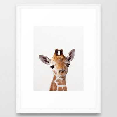 Baby Giraffe, Baby Animal Art Prints By Synplus Framed Art Print - Society6