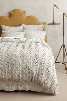 Textured Chevron Duvet Cover - Anthropologie