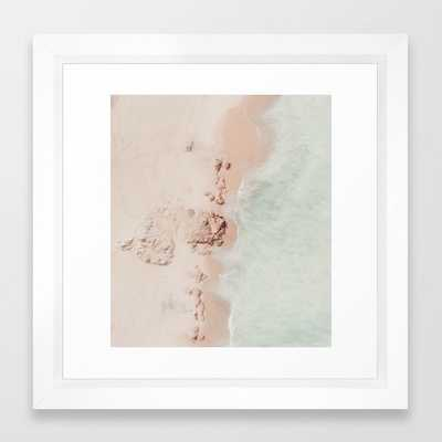 beach - pink champagne Framed Art Print - Society6