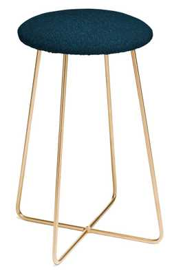 Peacock Pond Garden Counter Stool - Gold Aston Legs - Wander Print Co.