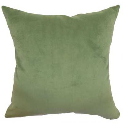 GENERYS SOLID PILLOW FOREST - 22x22 with down insert - Linen & Seam