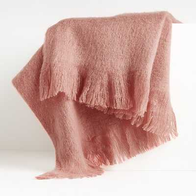 Loren Rose Soft Throw Blanket - Crate and Barrel