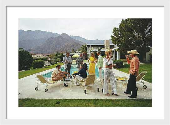 Desert House Party - 37x28 - White Frame - Photos.com by Getty Images