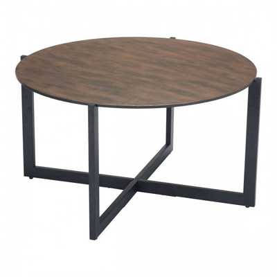 Hastings Coffee Table Rust & Matt Black - Zuri Studios