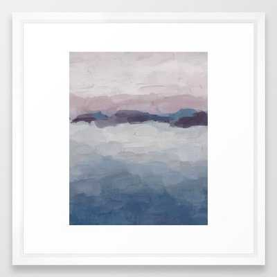Lavender Abstract by Rachel Elise - 22x22, Vector White Frame - Society6