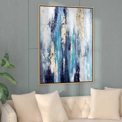 'Dinorah' Print on Canvas in Teal Blue - Wayfair