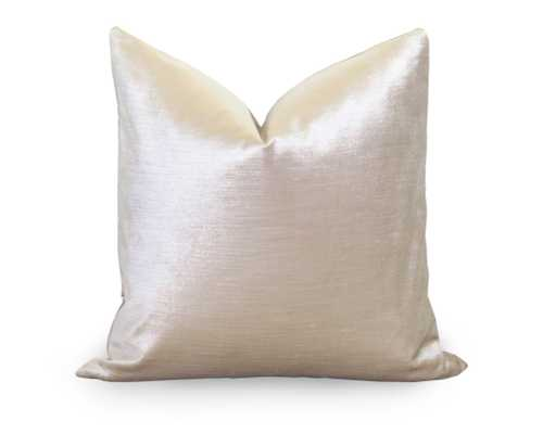 "Glisten Velvet Pillow Cover - Champagne - 18"" x 18"" - Insert not included - Willa Skye"