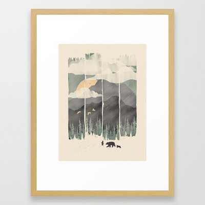 """Spring Mountain Weather Framed Art Print - 20""""x26"""", Conservation Natural Frame - Society6"""