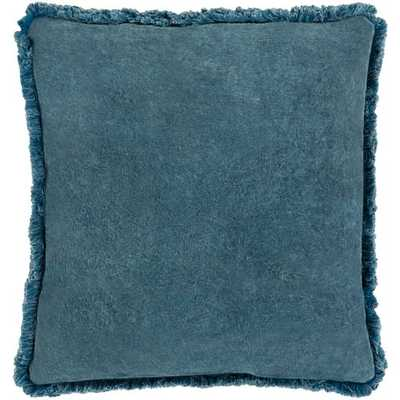 "Reina Pillow, 20""x 20"", Denim - Roam Common"