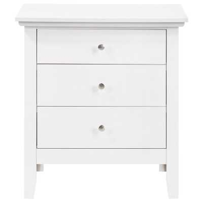 Sonja 3 Drawer Nightstand / White - Wayfair
