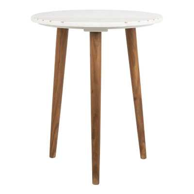 Valerie Round Marble End Table - AllModern