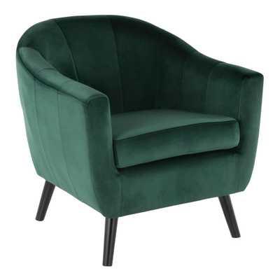 Rockwell Green Velvet Accent Chair - Hollis Modern