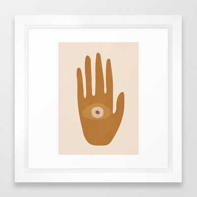 Hamsa Hand Framed Art Print - Society6
