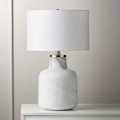 Large Marblized Grey Table Lamp - CB2