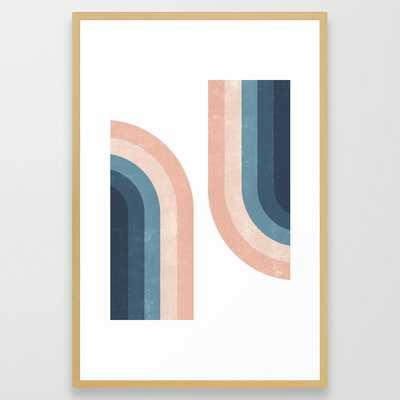 70s Rainbow Framed Art Print - Society6
