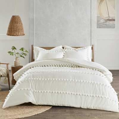 Pom Pom Cotton Duvet Cover Set - Wayfair