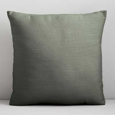 """Sunbrella Solid Indoor/Outdoor Cast Pillow, Sage, 18""""x18"""" - West Elm"""