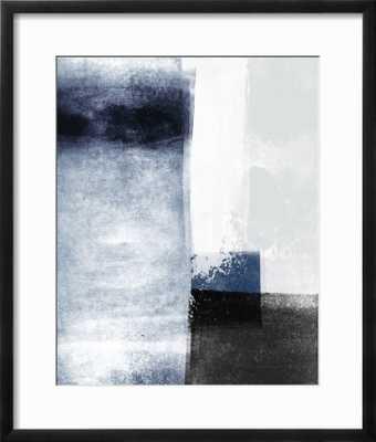 "Blue Abstract III 18 x 24"" black chelsea frame - art.com"