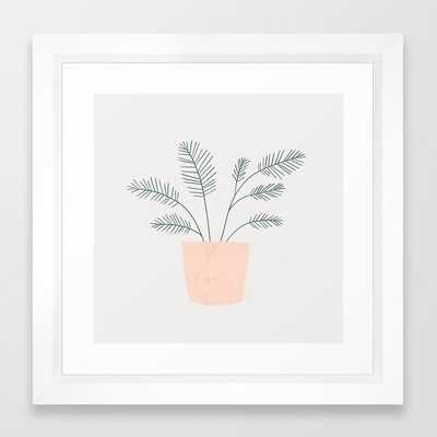 "little fern  - 12"" sq. - vector white - Society6"