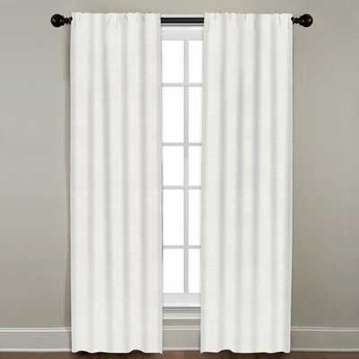 "Linen Drapery Single Panel, Oyster, 96"" - Havenly Essentials"
