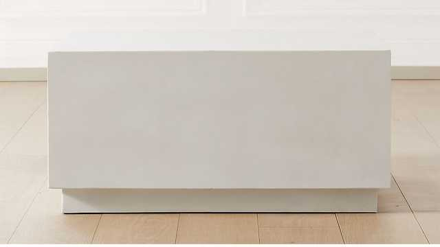Matter Ivory Cement Square Coffee Table - CB2