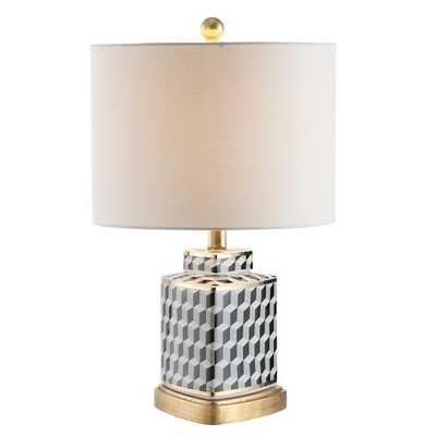 Alisha Table Lamp - Black/White - Arlo Home - Arlo Home