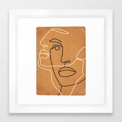 Abstract Face 6 Framed Art Print - Society6
