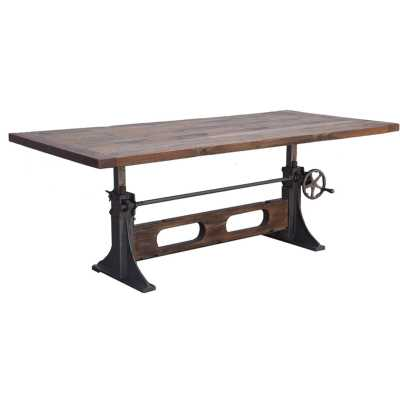 Camille Crank Solid Wood Dining Table - Wayfair