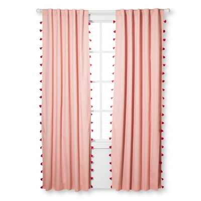 "Pink Tassel Blackout Curtain Panel (95""x42"") - Pillowfort - Target"