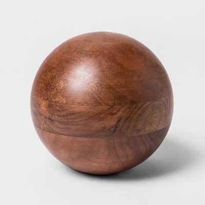 Decorative Ball Figurine - Wood - Project 62™ - Target