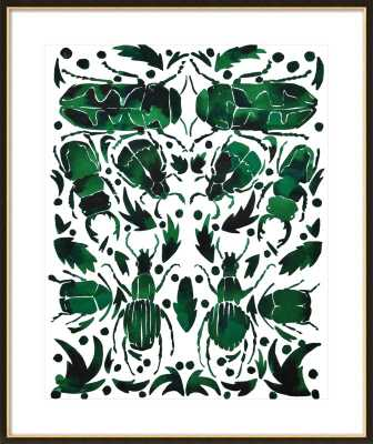 Emerald Beetles - Artfully Walls