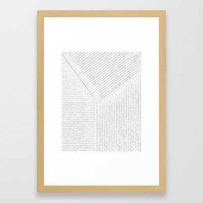 "Lines Art Framed Art Print-15""x21""- Conservation Natural frame - Society6"