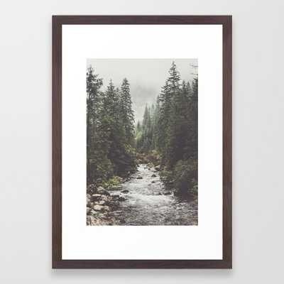 Mountain creek - Landscape and Nature Photography Framed Art Print - Society6
