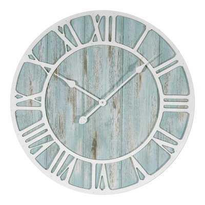 """Rosalinde Oversized 23.5"""" Coastal Decorative Quartz Wall Clock - Hayneedle"""